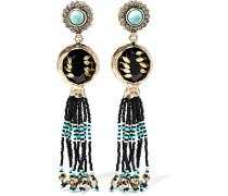 Vergoldete Ohrringe Mit Verzierungen -