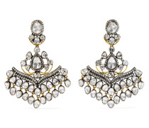 Ohrringe Aus 18 Karat Gold Und Sterling Mit Diamanten