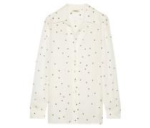 Nina Bedrucktes Hemd Aus Seiden-georgette -