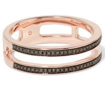 Skinny Double Band Ring Aus Roségold-vermeil Mit Diamanten