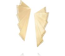 Fan Ohrringe Aus 18 Karat Gold Mit Diamanten