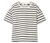 The Roadie Gestreiftes T-shirt Aus Einer Baumwollmischung In Distressed-optik -