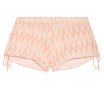 Morgan Bedruckte Shorts Aus Voile -