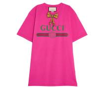 Bedrucktes T-shirt Aus Baumwoll-jersey Mit Verzierung -