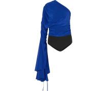 Reyna Body aus Crêpe De Chine aus Seide und Stretch-jersey mit Asymmetrischer Schulterpartie -