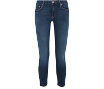 Looker Verkürzte, Halbhohe Skinny Jeans Mit Fransen -