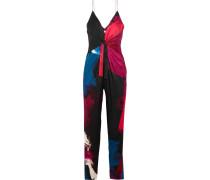 Rylen Jumpsuit Aus Einer Seidenmischung Mit Knotendetail - Pink