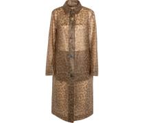 Gummierter Mantel Mit Leopardenprint -
