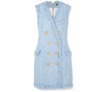 Minikleid aus einer Baumwollmischung mit Fransen -