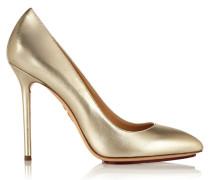 Monroe Pumps Aus Metallic-leder - Gold