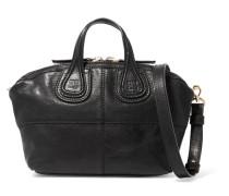 Micro Nightingale Tasche Aus Schwarzem Leder