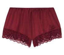 Luna Pyjama-shorts Aus Stretch-jersey Mit Spitzenbesatz -