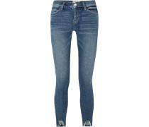 The Stiletto Halbhohe Skinny Jeans In Distressed-optik -
