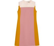 Kleid Aus Woll-crêpe In Colour-block-optik -