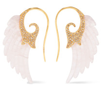 Wing Ohrringe Aus 18 karat  Mit Achat Und Diamanten