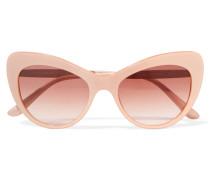 Kristallverzierte Cat-eye-sonnenbrille Aus Azetat -