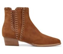 Presley Ankle Boots Aus Veloursleder - Hellbraun