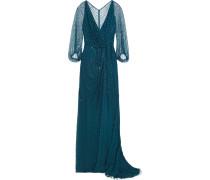 Perlenverzierte Robe aus Tüll