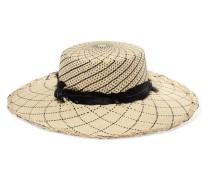 Hut aus Toquilla-stroh mit Federn -