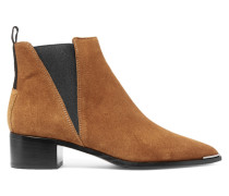 Jensen Ankle Boots Aus Veloursleder -