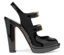 Sandalen Aus Lackleder - Schwarz