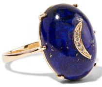 Ring Aus 14 Karat  Mit Lapislazuli Und Diamanten