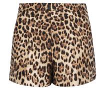 Shorts Aus Jacquard Mit Leopardenprint -