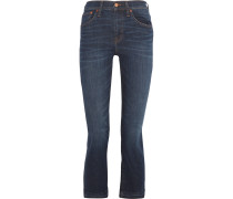 Cali Demi Boot Verkürzte, Halbhohe Jeans - Dunkler Denim
