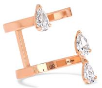 Serti Sur Vide Ring Aus 18 Karat  Mit Diamanten
