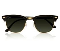 Clubmaster Sonnenbrille Aus Azetat - Schwarz