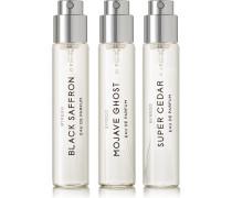 La Sélection Boisée Set Eau De Parfum – Mojave Ghost, Super Cedar & Black Saffron, 3 X 12 Ml – Set Aus Drei Eaux De Parfum