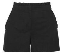 Shorts Aus Einer Baumwollmischung Mit Rüschen - Schwarz