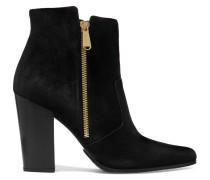 Anthea Ankle Boots Mit Spitzer Kappe Aus Veloursleder -