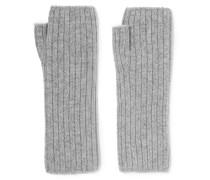 Fingerlose Handschuhe Aus Geripptem Kaschmir -