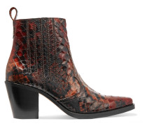 Maryse Ankle Boots Aus Leder Mit Krokodileffekt -