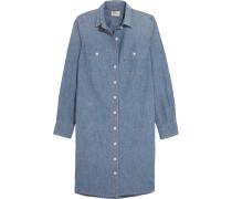 Kleid Aus Baumwoll-chambray - Blau