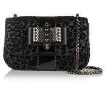 Sweet Charity Beflockte Schultertasche Aus Leder Mit Glitzerverzierung - Leoparden-Print