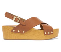 Bentlee Plateau-sandalen Aus Leder - Braun