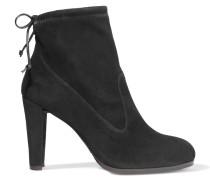 Glove Ankle Boots Aus Elastischem Veloursleder - Schwarz