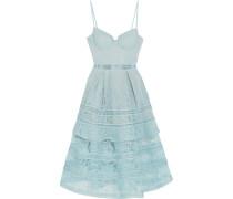 Kleid Aus Guipure-spitze Mit Gestuftem Besatz -