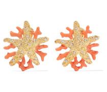 Verete Ohrclips Mit Kristallen Und Emaille