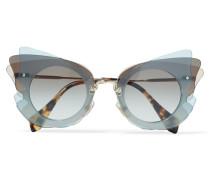 Sonnenbrille Mit Cat-eye-rahmen Aus Azetat - Grau