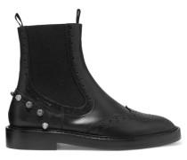 Nietenverzierte Ankle Boots Aus Leder -