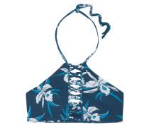 West Oz Neckholder-bikini-oberteil Mit Floralem Print Und Häkeleinsatz -
