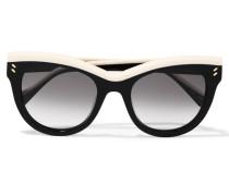 Sonnenbrille Mit Cat-eye-rahmen Aus Azetat - Schwarz