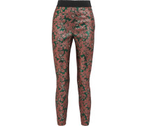 Leggings Aus Metallic-jacquard -