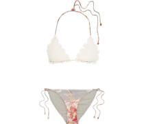 Mercer Triangel-bikini Aus Gehäkelter Baumwolle Und Stretch-jersey -