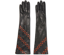 Handschuhe Aus Intrecciato-leder -