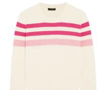 Pullover Aus Merinowolle Mit Streifen - Pink