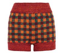 Karierte Shorts aus einer Wollmischung
